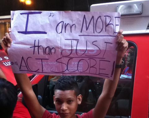 Chicago Teachers Union strike in September 2012.  cc. 2012 People's World