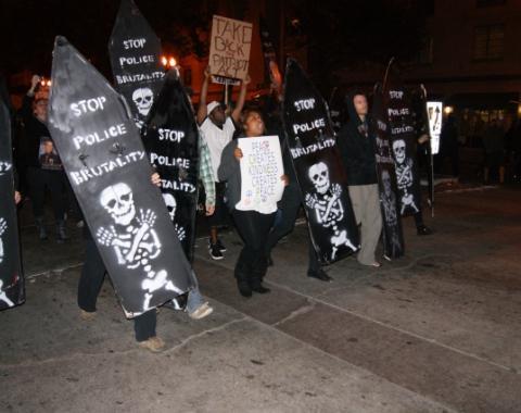 Protest March in Oakland CA ©2012 Darin Baurer