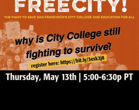 Co-authors of Free City! The Fight for San Francisco's City College and Education for All Marcy Rein, Mickey Ellinger, and Vicki Legion