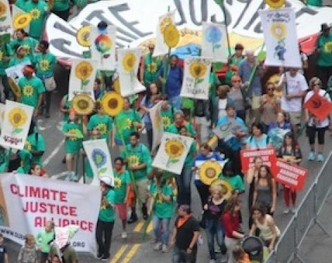 Climate Justice Alliance at the historic People's Climate March, 2014. Photo by Rae Breaux, ©2014 Our Power Campaign